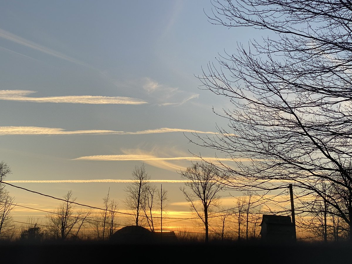 #iphone11pro #sunset picture through my kitchen window