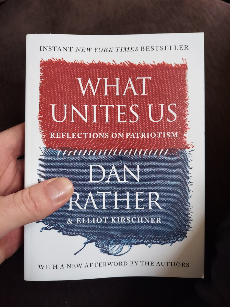 We're constantly bombarded with media from all sorts of mediums that separates us. I appreciate @DanRather for focusing on the things that unite us. #WhatUnitesUs