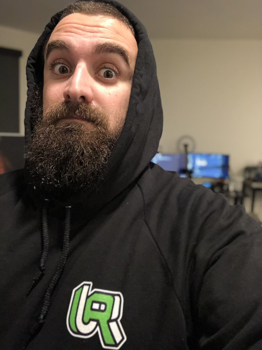 Love how the merch is looking from those of you that sent me pics! Here's the hoodie on me :).  everything is still available and already working on some new stuff! •  #unclerenny #merch #dcx #dcxcommonwealth #twitch #selfie #streamer #affiliate #beard