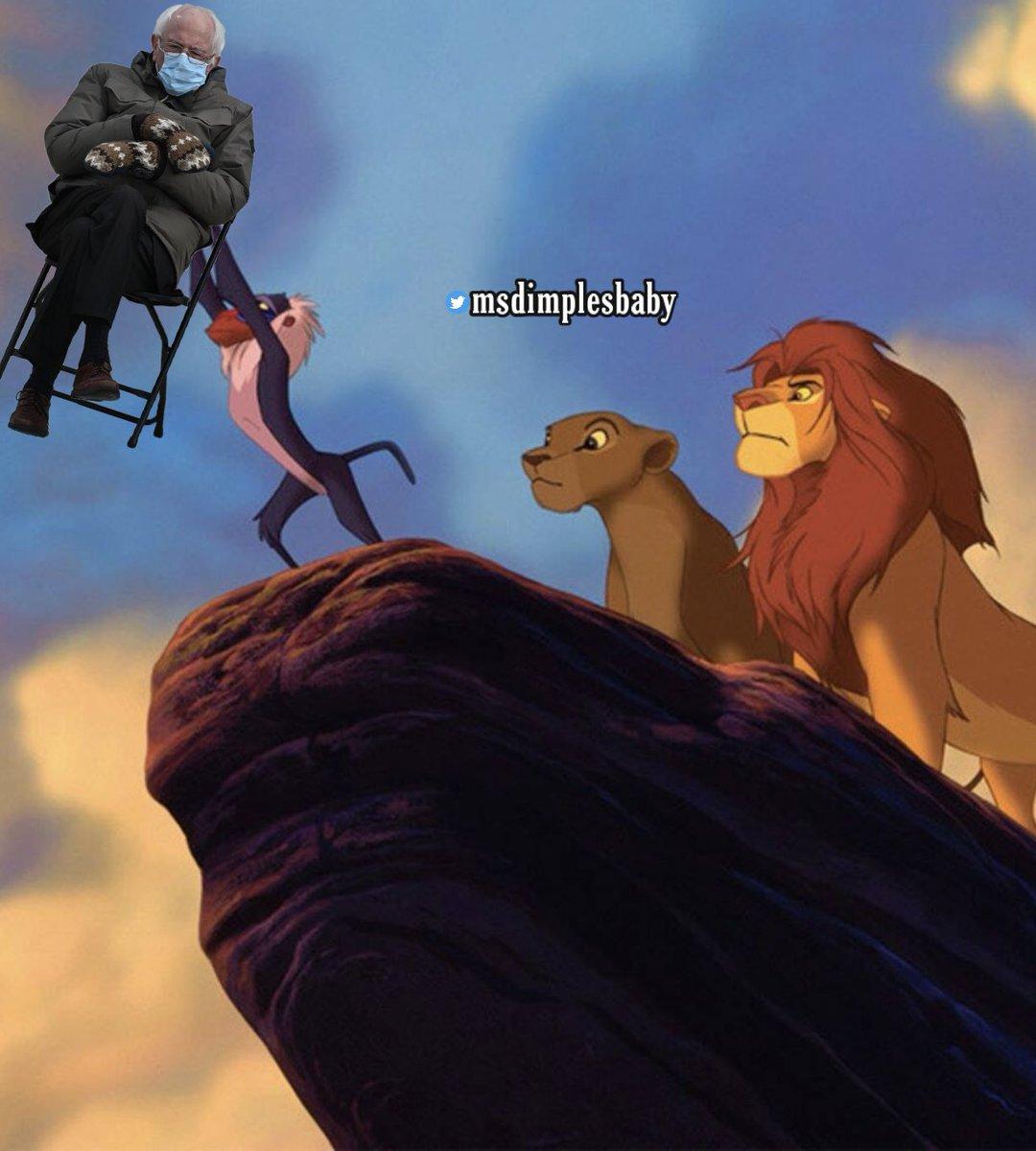 😂 #LionKing #TheLionKing #BernieSandersMittens #BernieSandersmemes #BernieSanders