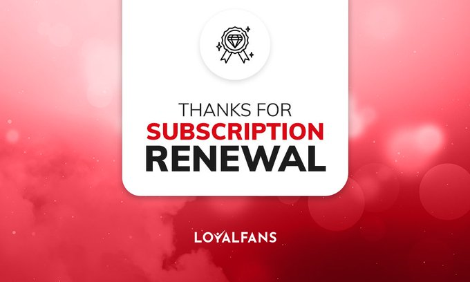 I just got a subscription renewal on #realloyalfans. Thank you to my most loyal fans! https://t.co/9qvKxYn4jD