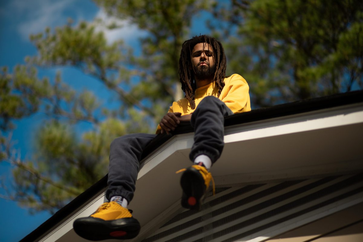 "J. Cole recreates his ""2014 Forest Hills Drive"" album cover to unveil the @PUMA DREAMER 2"