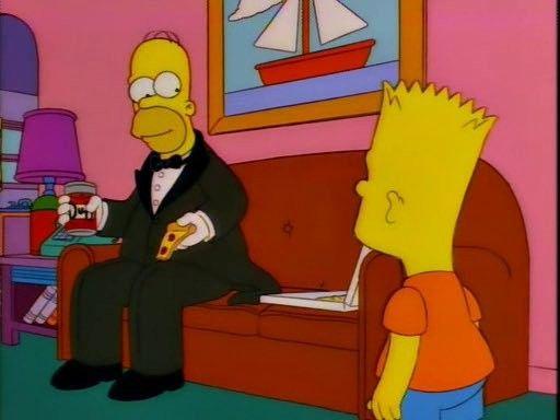 -¿Porque tan elegante Homero? - Hoy pelea de Conor Mcgregor muchacho... #UFC257