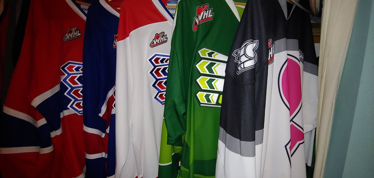 #IOwnARidiculousAmountOf of @spokanechiefs hockey jerseys also.