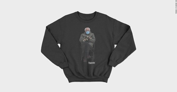 Sen. Bernie Sanders' campaign store is selling sweatshirts featuring the photo that inspired countless memes, and all the proceeds are going to charity https://t.co/y10wmD8pB6 https://t.co/yAnIf0FlVs