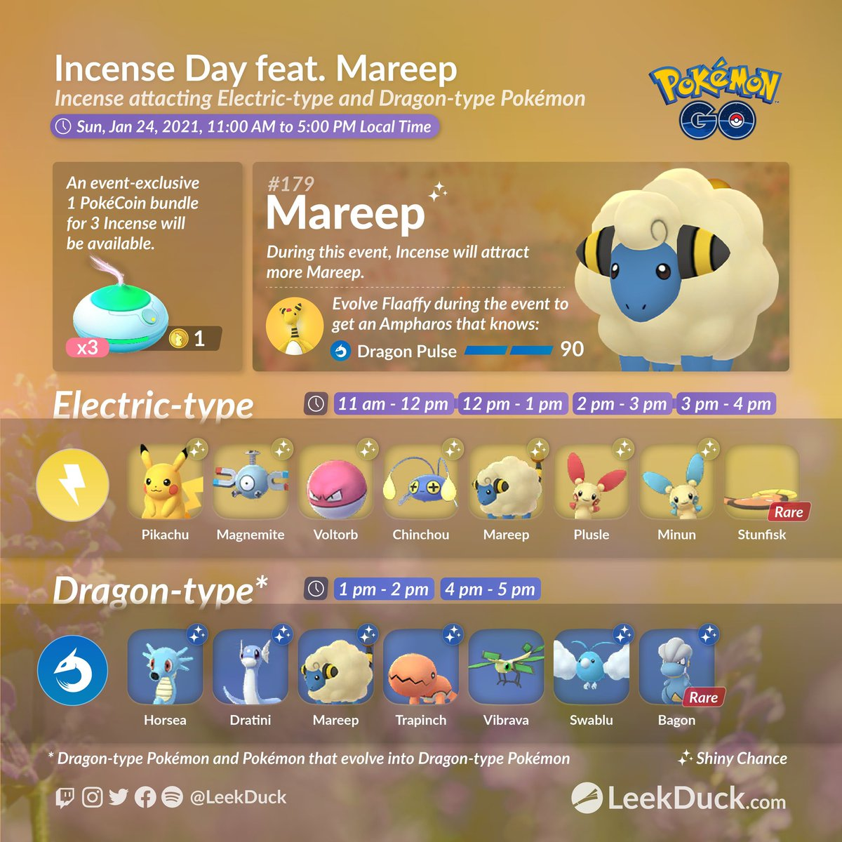 Ready for Tomorrow? Let's go Bearians! Tomorrow's Streams gonna be epic!  What Pokémon do you most desire on this list? Comment or GIF below <3  #PokemonGo #Mareep #Community #Electric #Dragon #lures #Johto