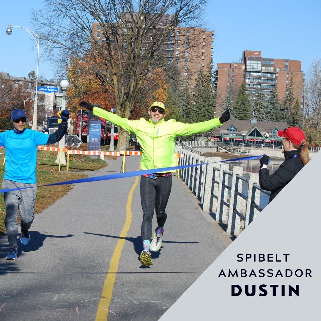 Celebrating that finish right before he crosses the line! 🎉   Congratulations on your completing your virtual race, Dustin!  📷 : @26.2orbust  #SPIbelt #SPIbeltAmbassador #FinishLine #FinishStrong #RunningMotivation