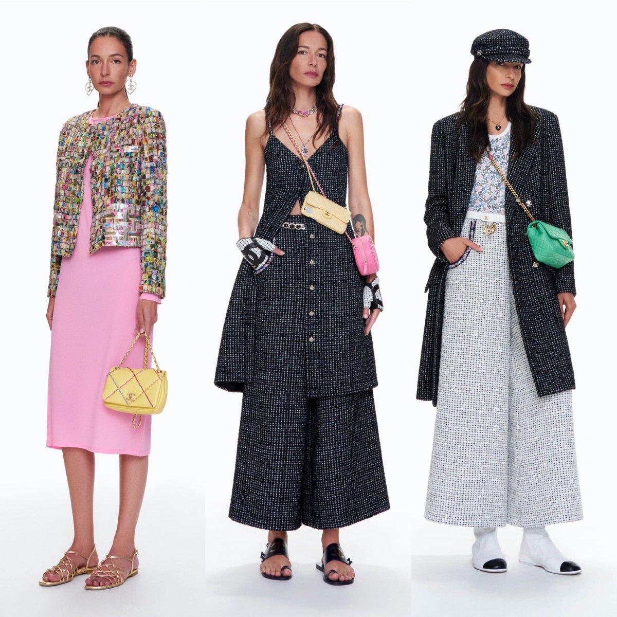 La pré-collection #CHANELSpringSummer 2021 actuellement en boutique, imaginée par #VirginieViard, est présentée par #AmandaSanchez, le mannequin du Studio de création de #CHANEL.  © Tim Elkaïm  🔗  L'héritage de Coco Chanel #espritdegabrielle