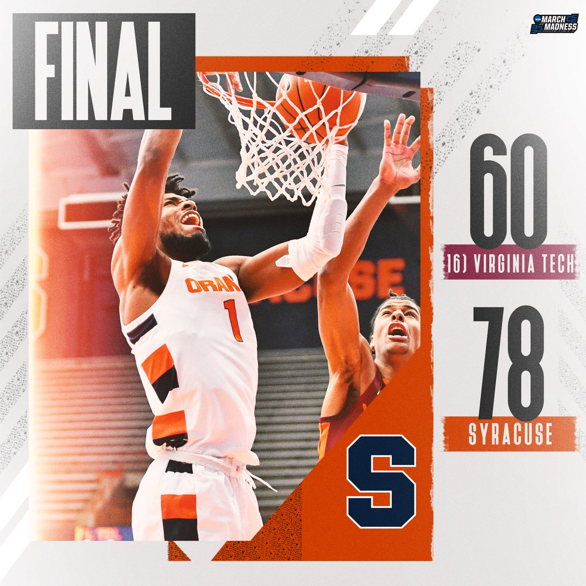 GO ORANGE! 💪🍊  Syracuse downs No. 16 Virginia Tech in the Carrier Dome!