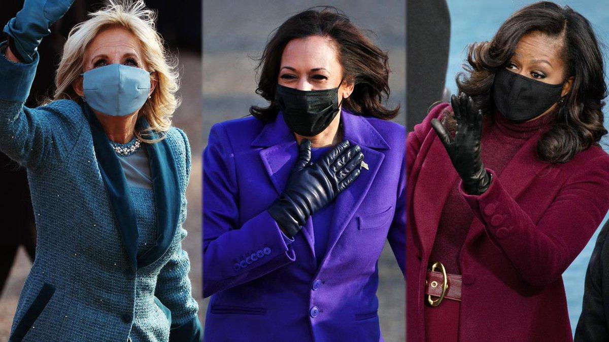 Los mejores looks de las mujeres poderosas: lo que transmiten los colores elegidos por Jill, Kamala y Michelle.