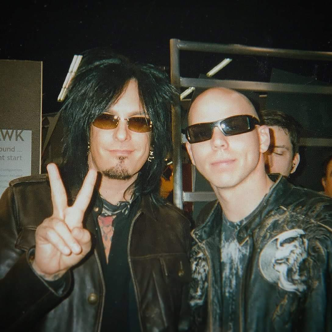 Nikki and I at the NAMM show in 2007.  #fbf #motleycrue #stonesour Via Josh's Facebook