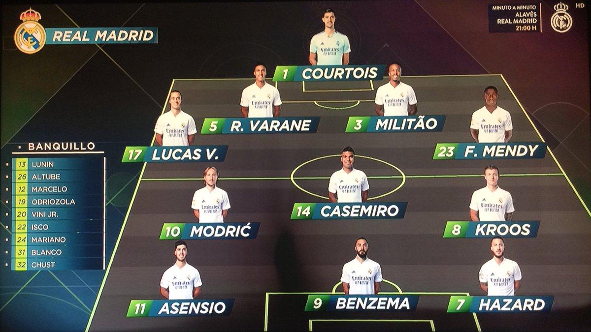 Nuestro XI Titular , Hala Madrid Y Nada Más! #RMLiga #AlavesRealMadrid  #RMFans #realfootball #HalaMadrid