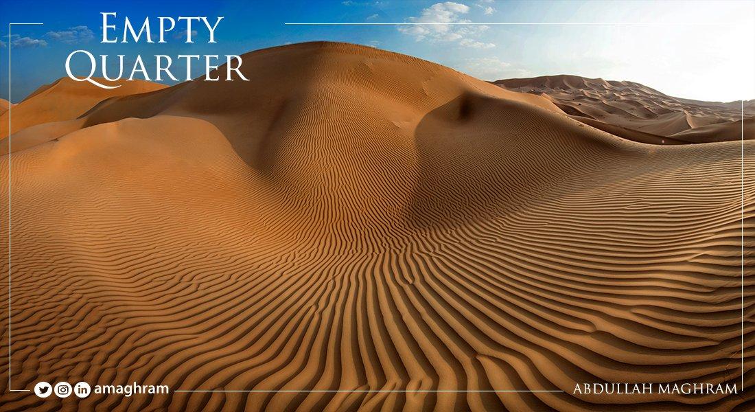 Saudi Arabia's Empty Quarter, world's largest sand desert 🇸🇦 #Saudi  #SaudiArabia  #KSA  #nature https://t.co/zhoHNh16iL