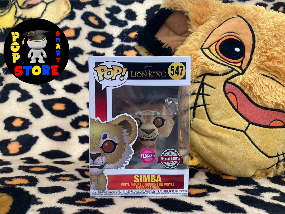 Simba (flocked) - No547 - £18.00  #Disney #TheLionKing #FunkoPop #Funko