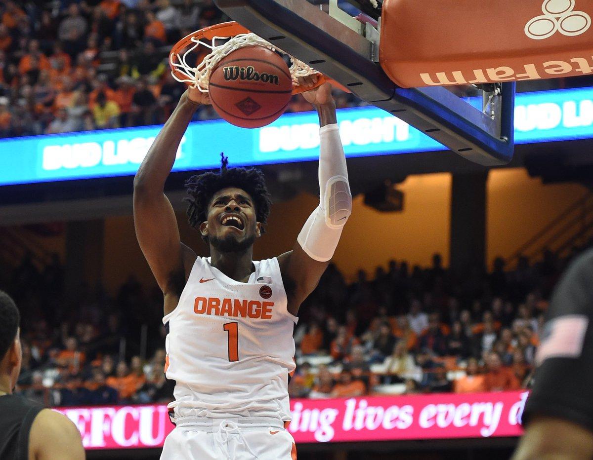 Syracuse pulls off the upset on #16 Virginia Tech, 78-60! #Syracuse 🍊