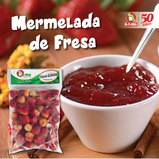 Prepara ricas Mermeladas de Fresa con la Fresa Lista K-T-DRA. . #ktdra #mermelada #dulce #sweet #empanadas #tequeños #instafood #receta #venezuela #pastelguayanés #pastelitosandinos #pulpasdefrutas #fresalista #calidad #yummy