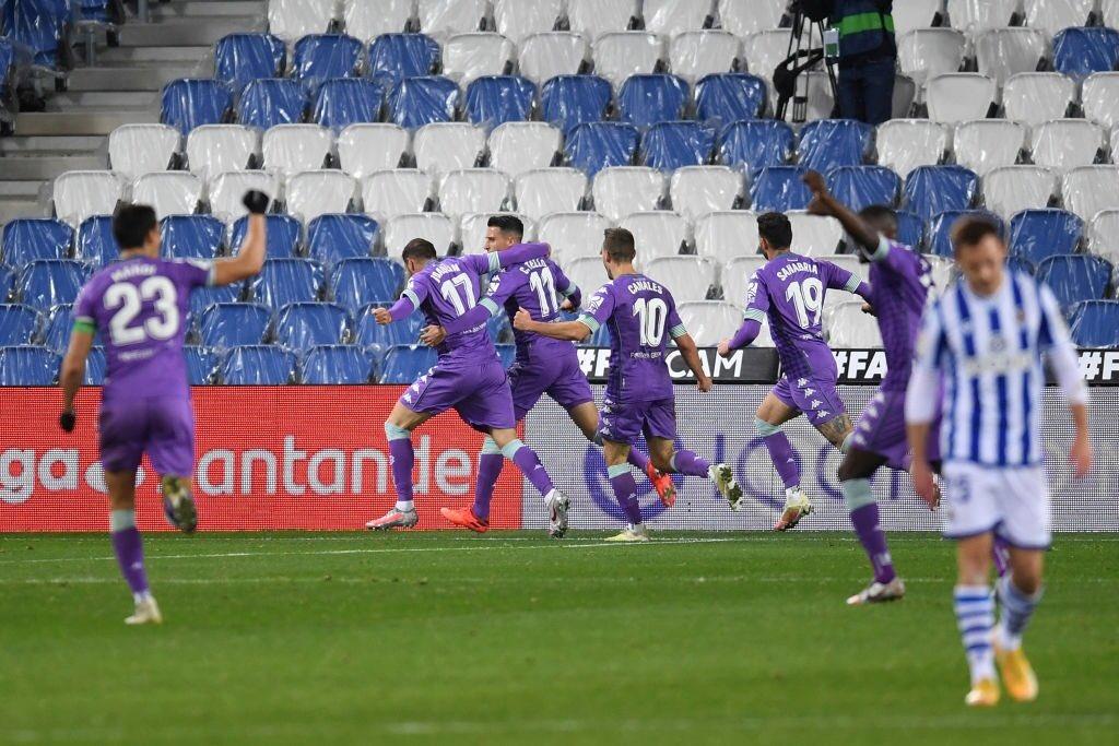 🔍 #DíaDeBetis | @joaquinarte acaba de anotar frente a la Real Sociedad su gol número 75 en primera división.  ⚽💚 #RealSociedadRealBetis #RealBetis #laliga #betis