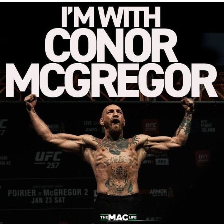 Make this trending #teamMcgregor  The king @TheNotoriousMMA will be on the throne tonight #UFC #UFC257 #MMA #boxing #BoxingNews #fight #USA #Russia #Irlanda #MMATwitter