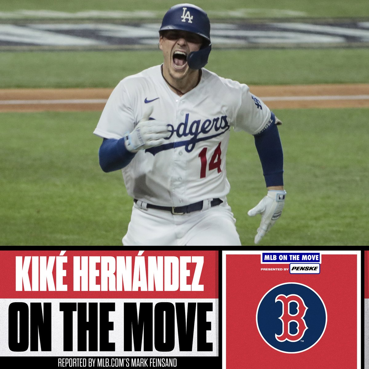 Boston is making moves.   @RedSox agree to deals with INF/OF Kiké Hernández and RHP Garrett Richards, per @Feinsand and @IanMBrowne.