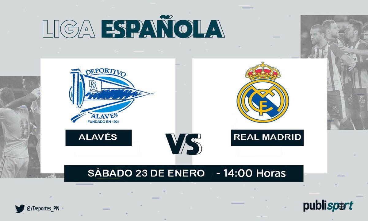 #LaLiga | ¡Hoy! @Alaves 🔵⚪ y @realmadrid ⚪⚪ se enfrentan en el estadio de Mendizorroza por la jornada 20 de La Liga.  El partido arranca en breves minutos.