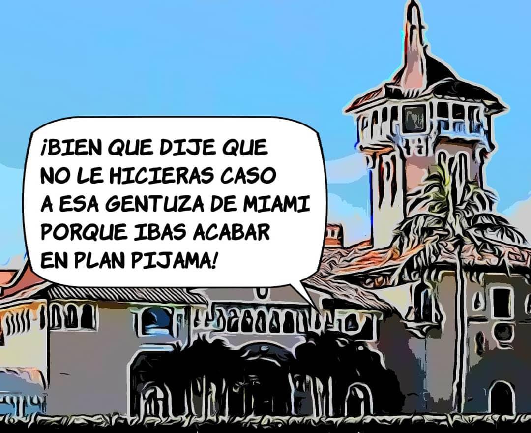 #LaOpiniónGráfica🖋️ | #Trump en Plan Pijama  🗨️¡Bien que dije que no le hicieras caso a esa gentuza de #Miami porque ibas a acabar en Plan pijama!  👉👉   #DonaldTrump  #TrumpImpeachment