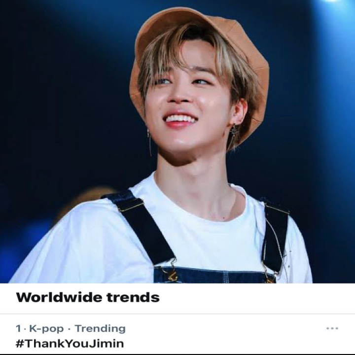#ARMY Celebrates The 8th Year Anniversary Of #Jimins 1st Tweet from #BTS And #ThankYouJimin Trends At #1 On Twitter Worldwide!👏🥇🌎8️⃣🎂👑💜 facebook.com/worldmusicawar…
