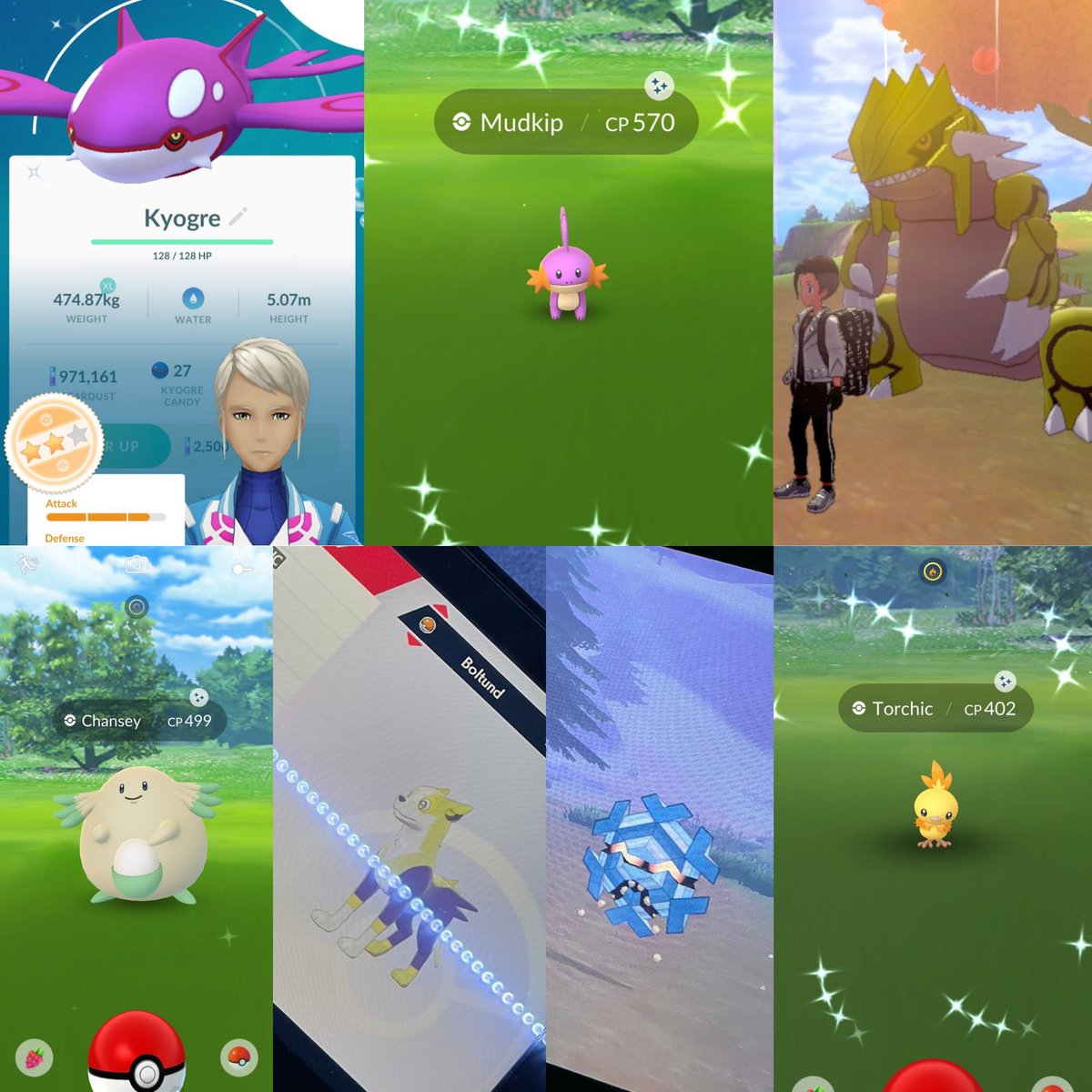 So having COVID-19 and staying at home... has summoned me these 7 shinies 😂 who says you can't catch shinies at home 😉 #pokemongo #PokemonSwordandShield #shinypokemon #pokemonshinies
