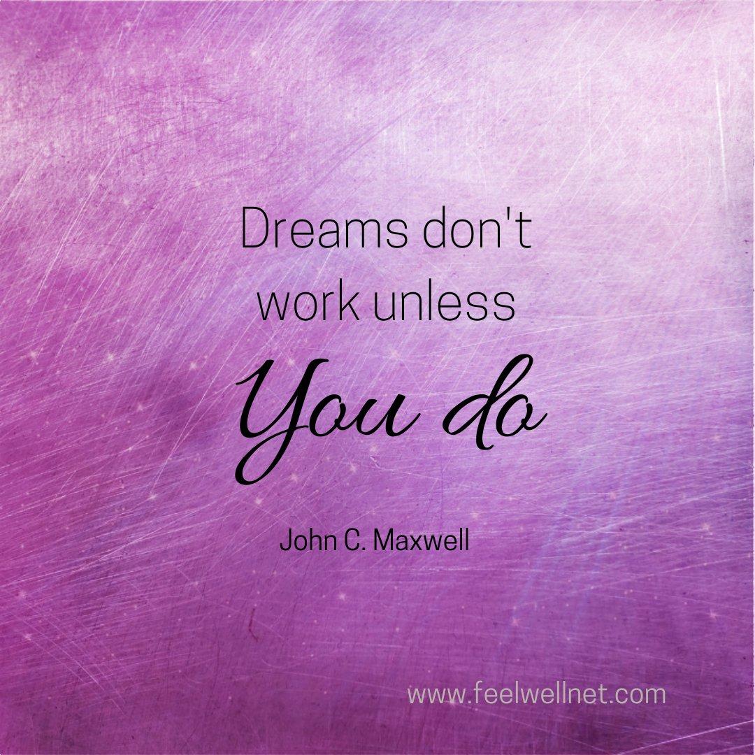 Dreams don't work unless YOU do  #selflove #selfcare #selflovechallenge #selfcareday #loveme #InspireChange #motivational #loveyourself #SelfCareMatters #Motivation #believeinyourselfalways #InspirationalQuotes #quotes #MotivationalQuotes #inspiration #feelwellnet