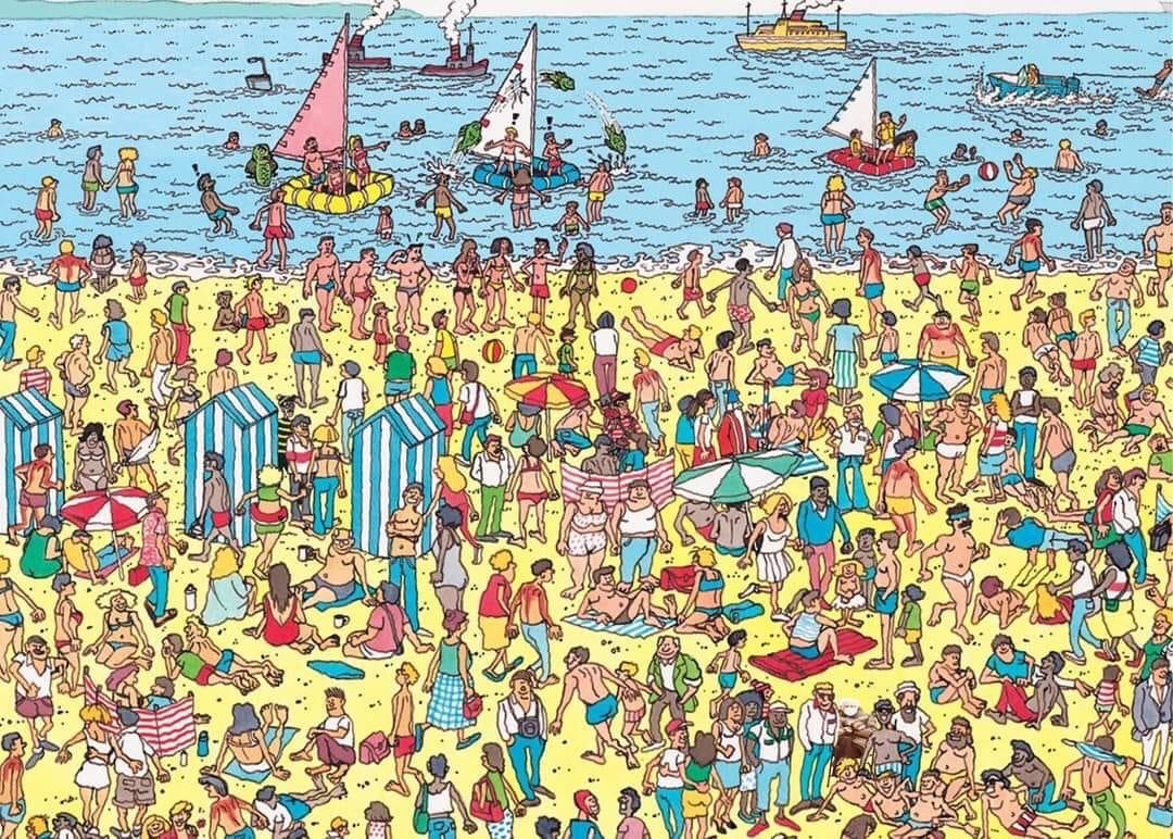 Replying to @floppy_llama: Find Bernie and yes he is there and don't ruin it for other people lol