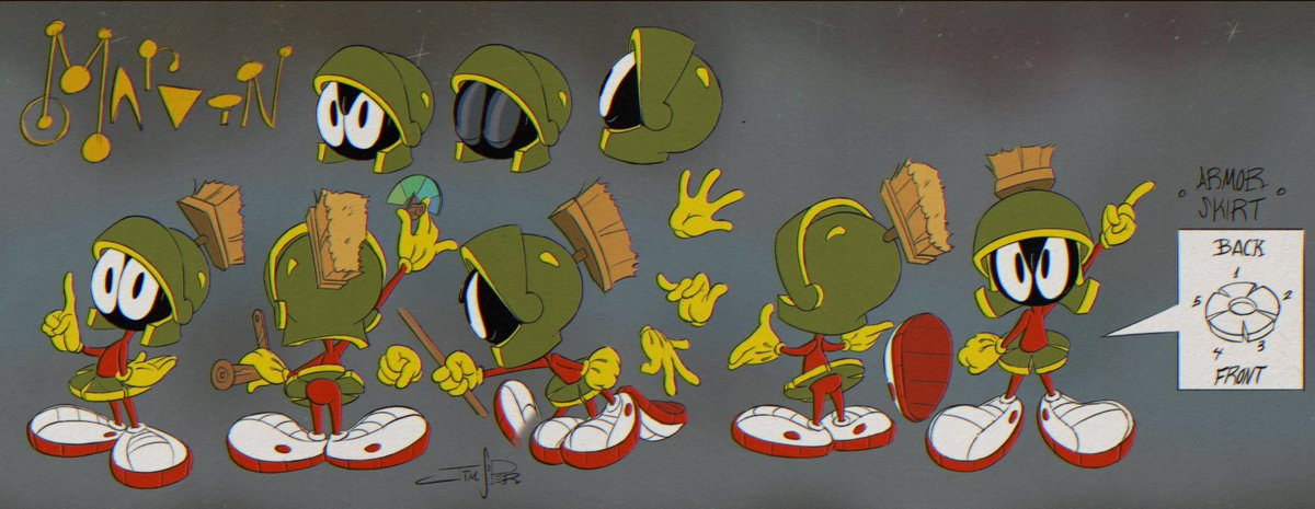 Replying to @JimSoper4: Model sheet of Marvin the Martian from #looneytunescartoons on @hbomax