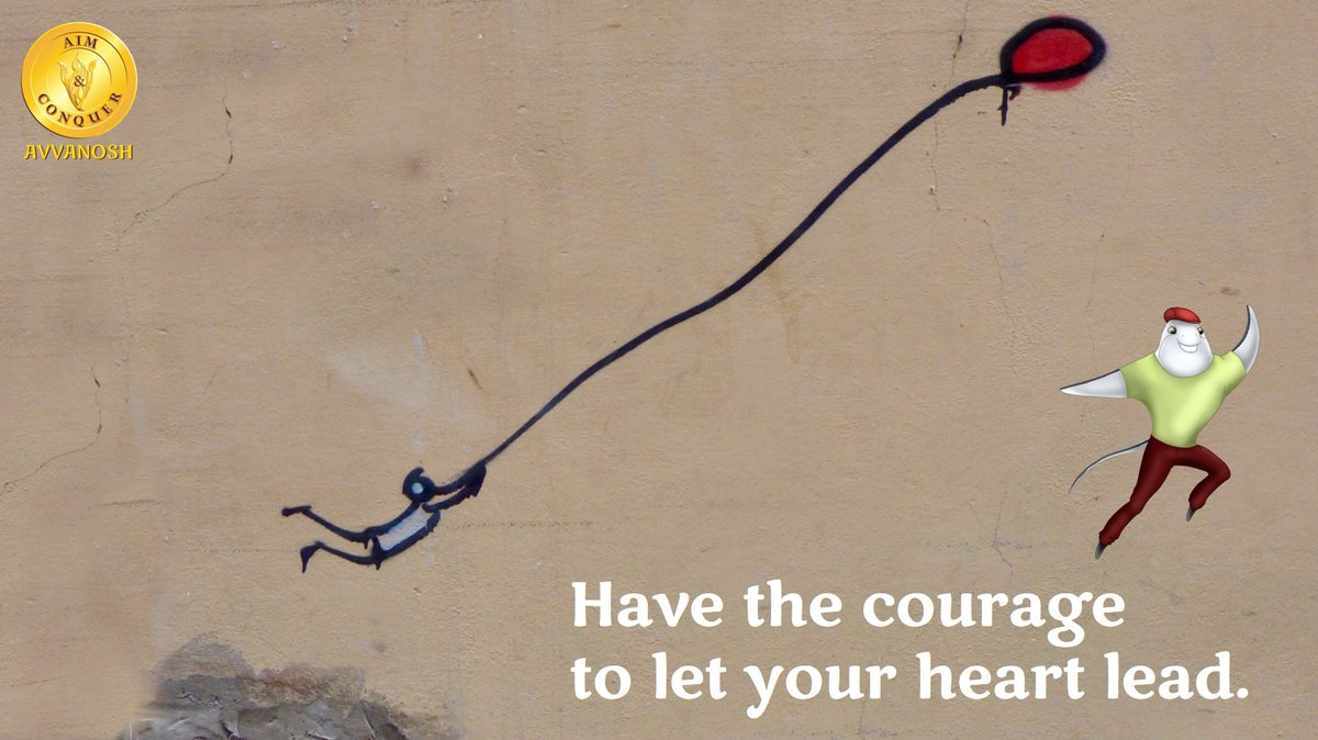 Following your heart requires a willingness to have faith in life's intelligence. By believing in yourself, you can find the strength to fly high. #aimandconquer #avvanosh #mentalhealth #selfcare #selfcaresaturday #saturdayvibes #havefaith #selflove #selflovesaturday