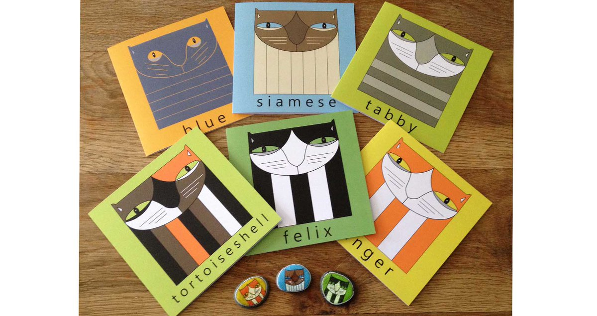 I've designed these quirky cat cards that are prefect to send to any cat lovers out there. And there's free UK P&P. Choose from #tabby #siamese #britishblue #tortoiseshell #ginger and #tuxedo #Caturday #catsoftwitter