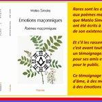 Image for the Tweet beginning: Poésies maçonniques  Plus d'infos sur