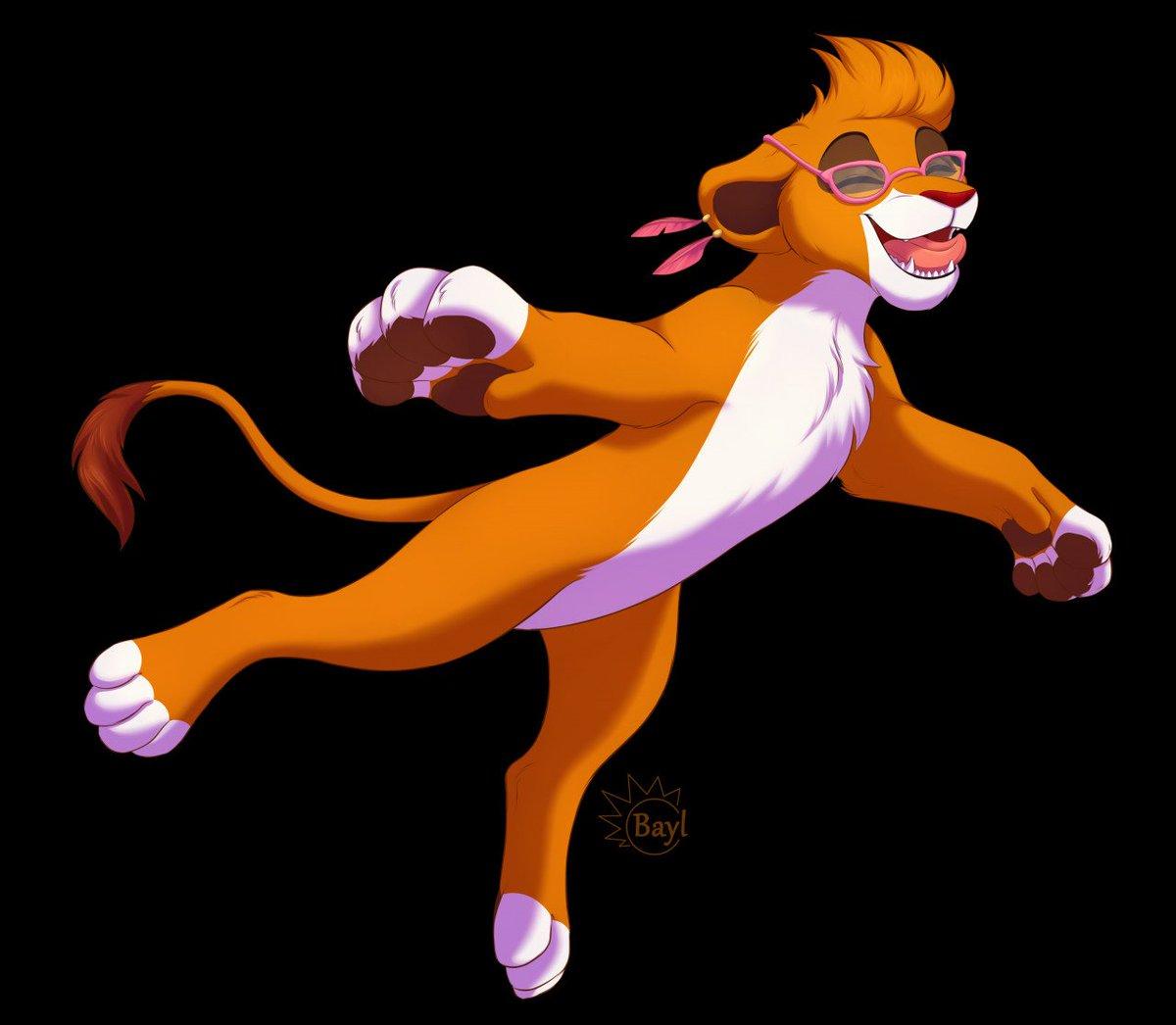 Aisha jumping Commish for Kovu-01 from Fa #Tlk #animalartist #furry #animalart  #Bayl #Aisha #lioness #lion #feral #TheLionKing #the_lion_king #LionKing