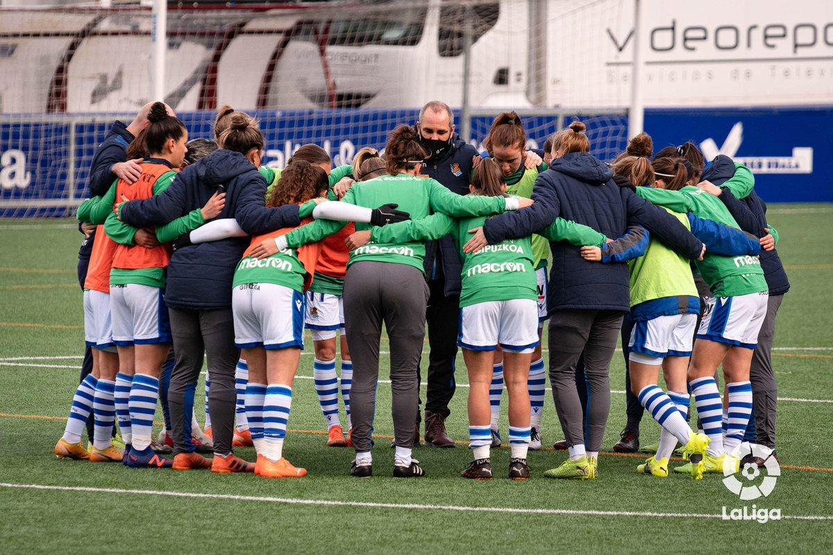 Queríamos los 3 puntos, no fue posible, pero este equipo peleará hasta el final! 🔵⚪️  #RealSociedad #AurreraReala #PrimeraIberdrola