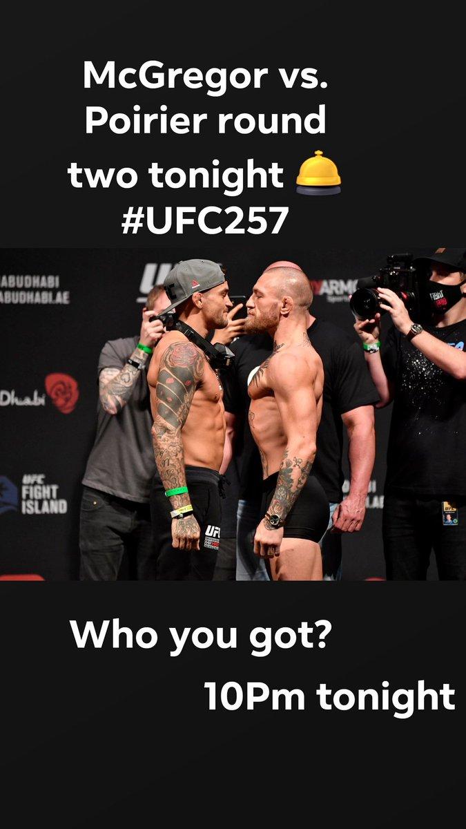 #UFC257 tonight McGregor vs Poirier @ufc