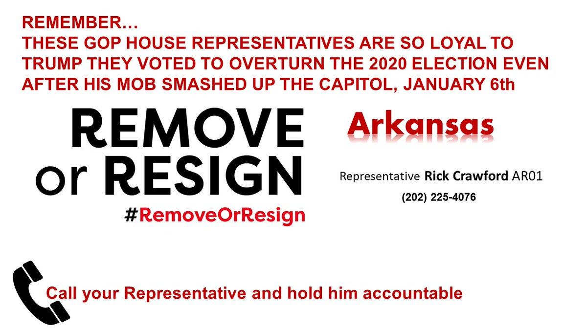 #Arkansas hold him accountable!  @RepRickCrawford   #RemoveOrResign
