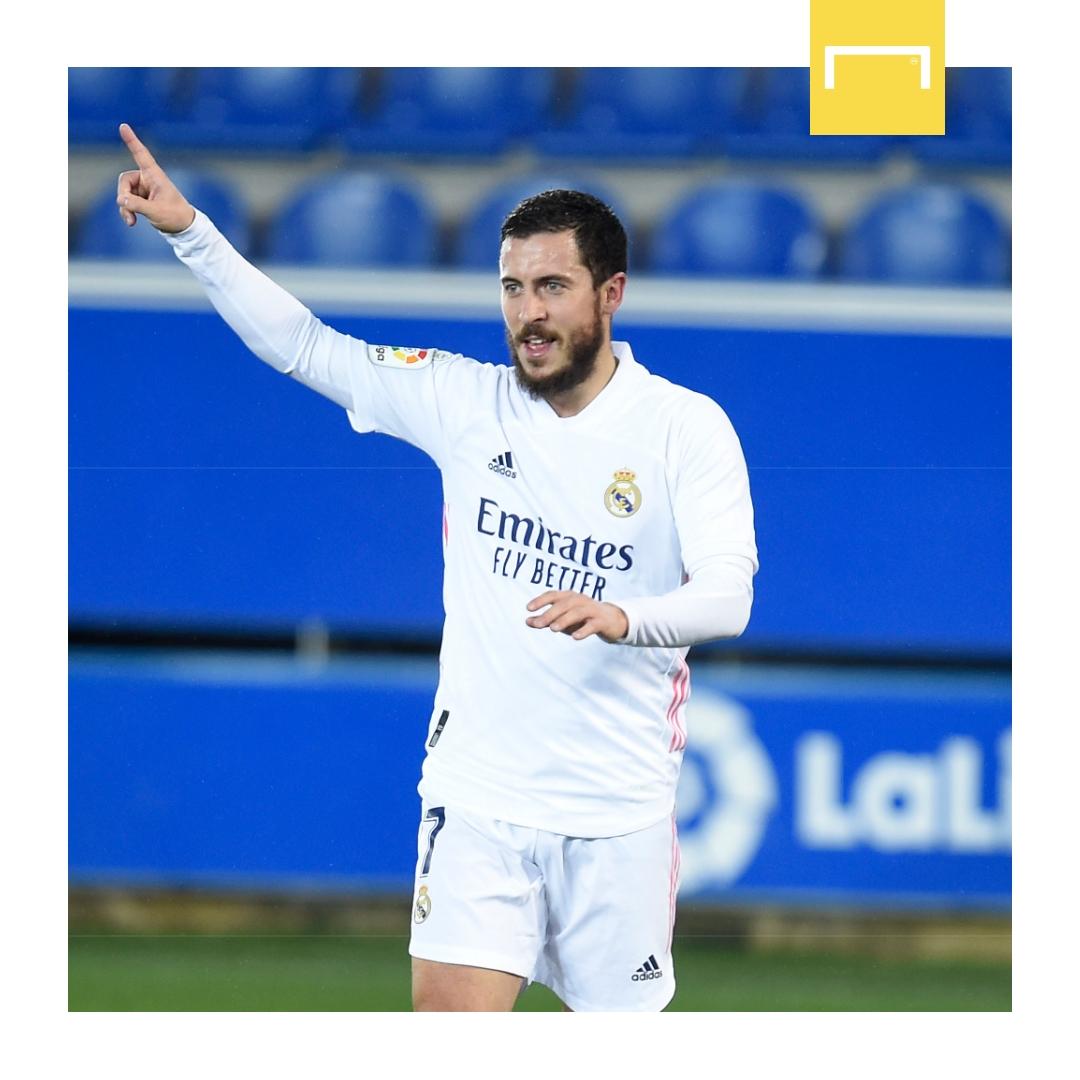 Eden Hazard has scored his first La Liga goal since October! 😲