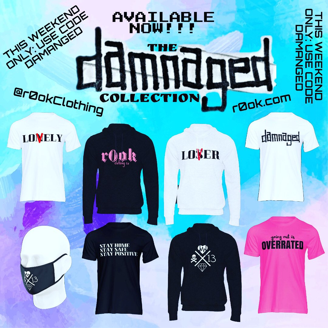 💎 the damnaged collection. available now! 💎  💖 this weekend ONLY! use code DAMNAGED for 20% off! 💖  🔥 get damnaged now @ ! 🔥  #mentalhealth #streetwear #bipolarclub #saturdayvibes #weekendvibes #fashion #shopping #discount #support #smallbusiness