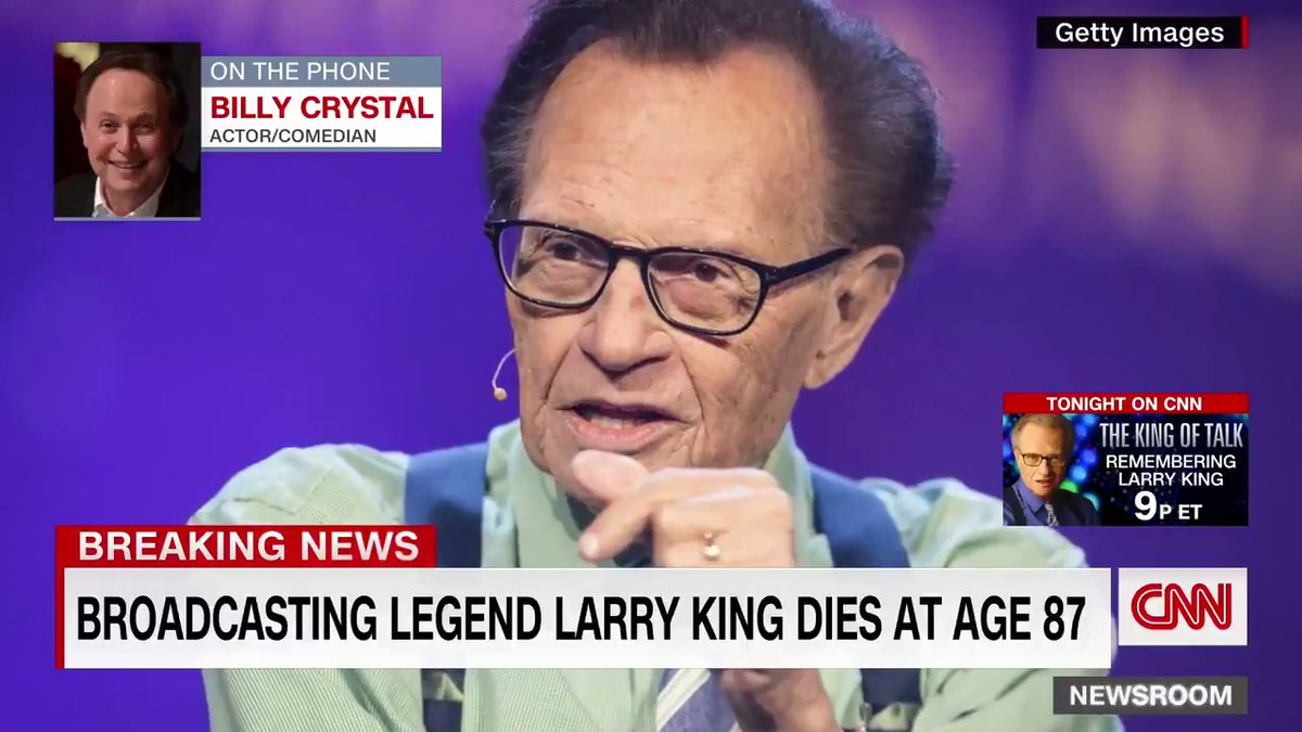 """Actor and comedian Billy Crystal says Larry King was a """"stunning human being."""" When King was interviewing him, """"you didn't know where he was going to go but it always ended up in the right place,"""" Crystal says."""