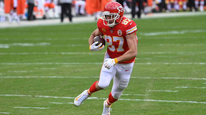 Will Travis Kelce score a TD in the first half?  Play NFL Pick'Em Party for FREE for your chance to win a trip to Super Bowl LVI in Los Angeles: