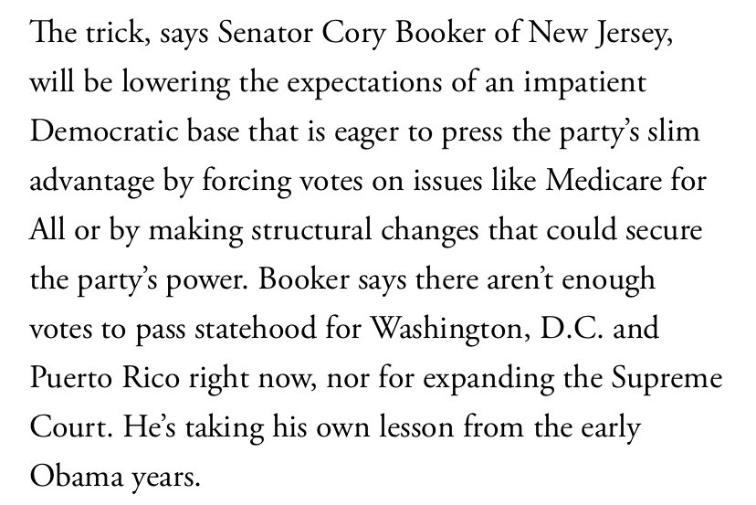 "United States Senator Cory Booker (D-N.J.) says there ""aren't enough votes to pass statehood for Washington D.C. and Puerto Rico right now."""