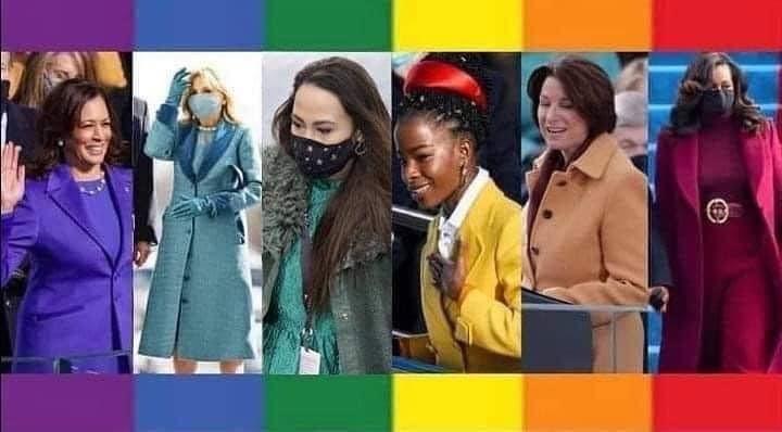 🌈 A rainbow of strength & beauty! #Innauguration2021 #InaugurationDay2021