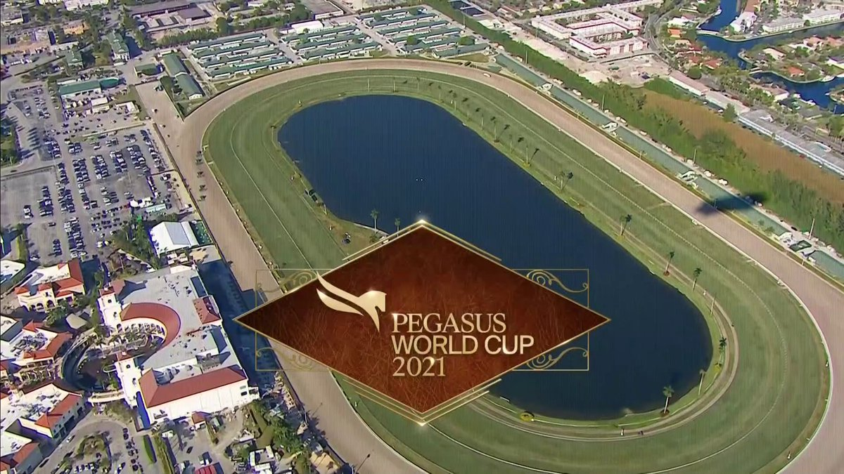 The 2021 Pegasus World Cup is underway!   📺: NBC  💻: