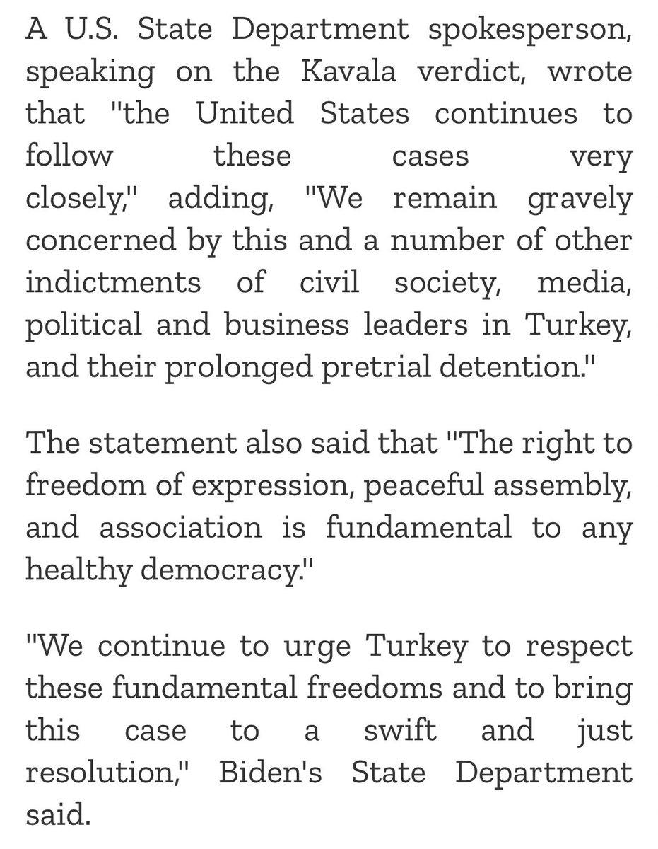 JUST IN: Biden administration issues first statements on #Turkey regarding Demirtaş, Kavala | @ahval_en h/t @Nervana_1