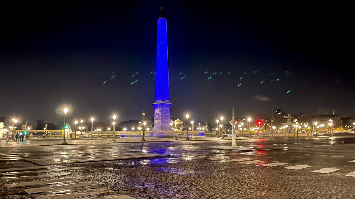 Place de la Concorde Paris sous couvre-feu Janvier 2021 #CouvreFeu18h