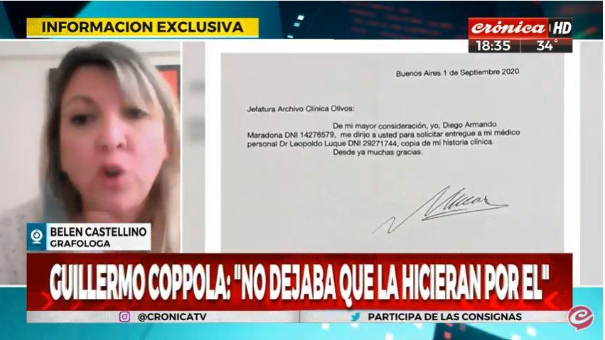 #Ahora | Habla con @egodoyvallejos la grafologa #BelenCastellino sobre la firma de #Maradona   #Quedate con #CrónicaNoticias   Miranos en #DirecTV → 718 #Telecentro → 19 #Cablevisión → 17  Seguinos por ☛  ☛ #YouTube →