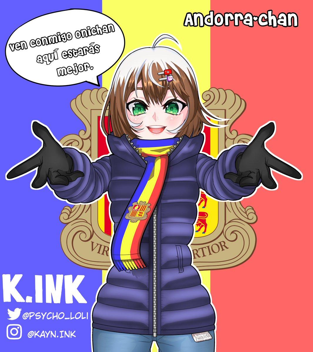 ¿Realmente vais a culpar a alguien de ir con ella con lo mona que es? #Andorra #anime #animegirl #digitalart #animeartist #rubiusfanart