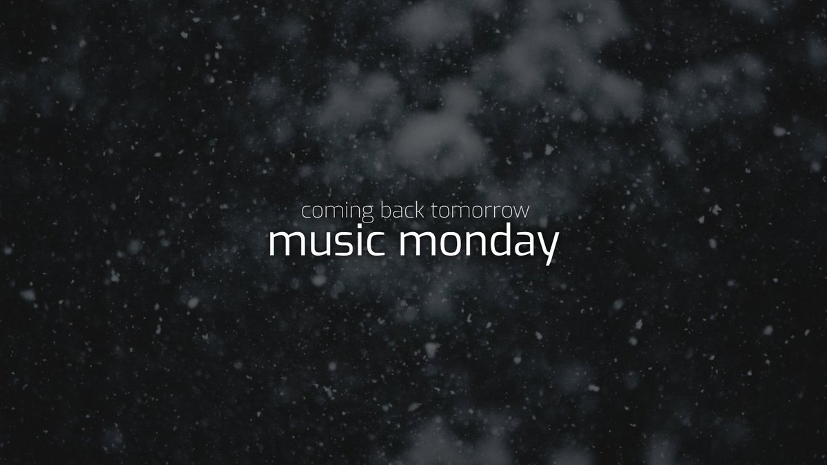 From tomorrow we will start again with our weekly #MusicMonday. The latest and greatest hits can then be found on all of our channels. ❄️