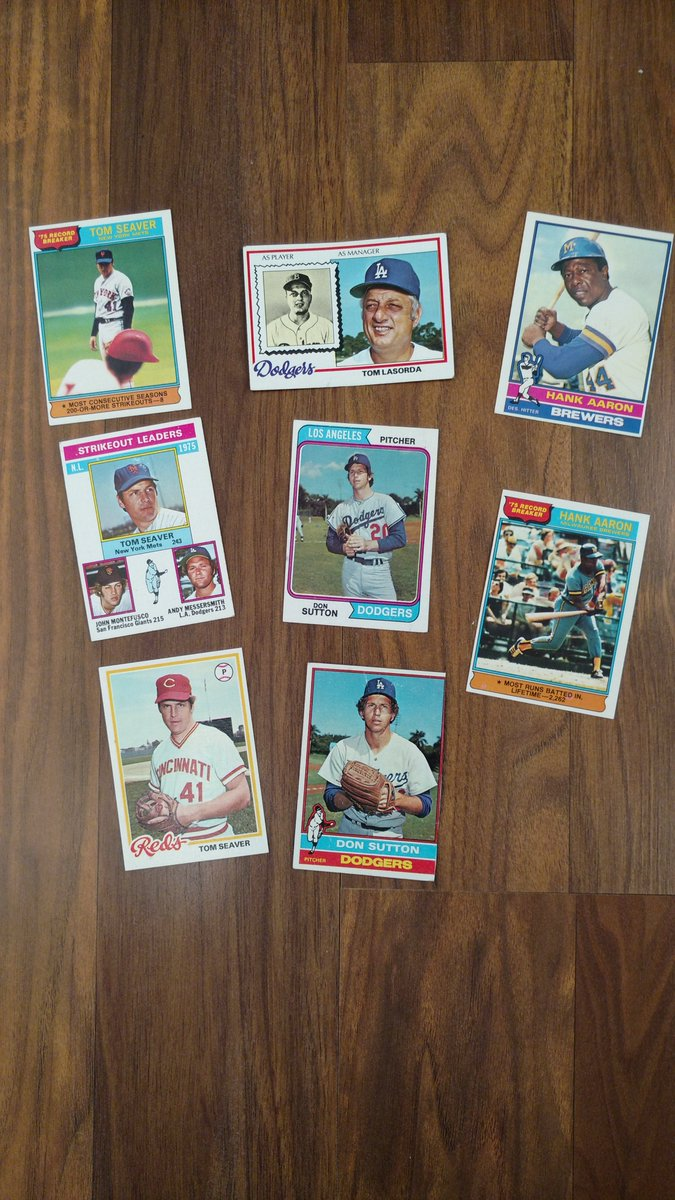 happy childhood memories  sad days of adulthood  #RIPTomSeaver #RIPTommyLasorda  #RIPDonSutton  #RIPHankAaron
